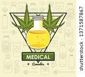 cannabis medical concept | Shutterstock .eps vector #1371587867
