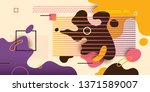 modish abstract illustration ... | Shutterstock .eps vector #1371589007
