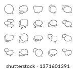 speech bubbles line icons.... | Shutterstock .eps vector #1371601391