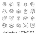 augmented reality line icons.... | Shutterstock .eps vector #1371601397