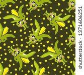 vector cartoon maize pattern... | Shutterstock .eps vector #1371606251