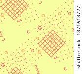 vintage memphis texture.... | Shutterstock .eps vector #1371613727