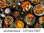 asian food background with... | Shutterstock . vector #1371617507