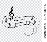 music notes  isolated  vector... | Shutterstock .eps vector #1371639647