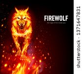 raster version. aggressive fire ...   Shutterstock . vector #1371647831