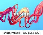 fluid poster design. abstract... | Shutterstock .eps vector #1371661127