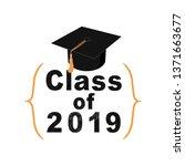 class of 2019 sign  graduation... | Shutterstock . vector #1371663677