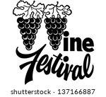 wine festival   retro clip art... | Shutterstock .eps vector #137166887
