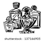 perfume and cologne bottles  ... | Shutterstock .eps vector #137166905