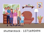 family avatar cartoon character | Shutterstock .eps vector #1371690494