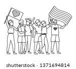 homosexual proud cartoon | Shutterstock .eps vector #1371694814