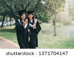 two asian young college girl... | Shutterstock . vector #1371704147