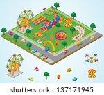 isometric carnival | Shutterstock .eps vector #137171945
