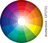 96 color spectrum   wheel ... | Shutterstock .eps vector #1371721