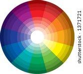 96 color spectrum   wheel ...   Shutterstock .eps vector #1371721