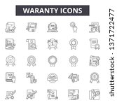 waranty line icons  signs set ...
