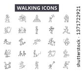 walking line icons  signs set ... | Shutterstock .eps vector #1371722921