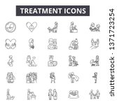 treatment line icons  signs set ... | Shutterstock .eps vector #1371723254