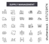 supply management line icons ...   Shutterstock .eps vector #1371723974