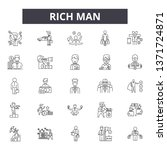 rich man line icons  signs set  ... | Shutterstock .eps vector #1371724871