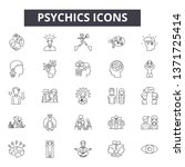 psychics line icons  signs set  ... | Shutterstock .eps vector #1371725414
