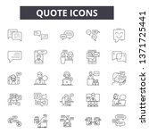 quote line icons  signs set ... | Shutterstock .eps vector #1371725441