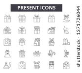 present line icons  signs set ... | Shutterstock .eps vector #1371726044