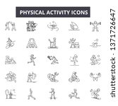 physical activity line icons ...   Shutterstock .eps vector #1371726647