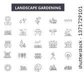 lanscape gardening line icons ... | Shutterstock .eps vector #1371729101