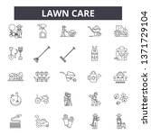 lawn care line icons  signs set ... | Shutterstock .eps vector #1371729104