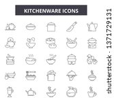 kitchenware line icons  signs... | Shutterstock .eps vector #1371729131