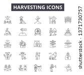 harvesting line icons  signs... | Shutterstock .eps vector #1371730757
