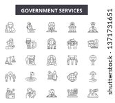 government services line icons  ... | Shutterstock .eps vector #1371731651
