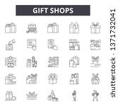 gift shops line icons  signs... | Shutterstock .eps vector #1371732041