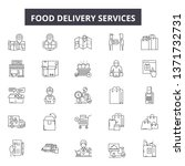 food delivery services line... | Shutterstock .eps vector #1371732731
