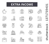 extra income line icons  signs...   Shutterstock .eps vector #1371735431