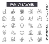 family lawyer line icons  signs ... | Shutterstock .eps vector #1371735464