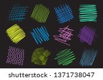 colorful hatch lines on... | Shutterstock .eps vector #1371738047