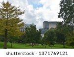 austin  tx   oct 13  skyline of ... | Shutterstock . vector #1371769121