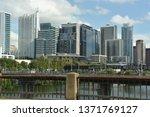 austin  tx   oct 13  skyline of ... | Shutterstock . vector #1371769127