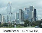 austin  tx   oct 13  skyline of ... | Shutterstock . vector #1371769151