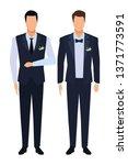 men wearing tuxedo | Shutterstock .eps vector #1371773591