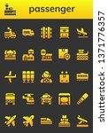 passenger icon set. 26 filled... | Shutterstock .eps vector #1371776357
