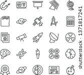 thin line vector icon set  ... | Shutterstock .eps vector #1371817241