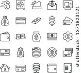 thin line vector icon set  ... | Shutterstock .eps vector #1371823121
