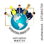 international worker's day... | Shutterstock .eps vector #1371841724