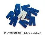 blue felt pants and one white... | Shutterstock . vector #1371866624