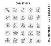25 hand drawn christmas icon... | Shutterstock .eps vector #1371866654