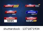 breaking news template title...   Shutterstock .eps vector #1371871934