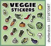 vegetables stickers colorful...